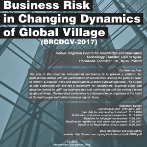 International Conference on Business Risk in Changing Dynamics of Global Village, (BRCDGV-2017)