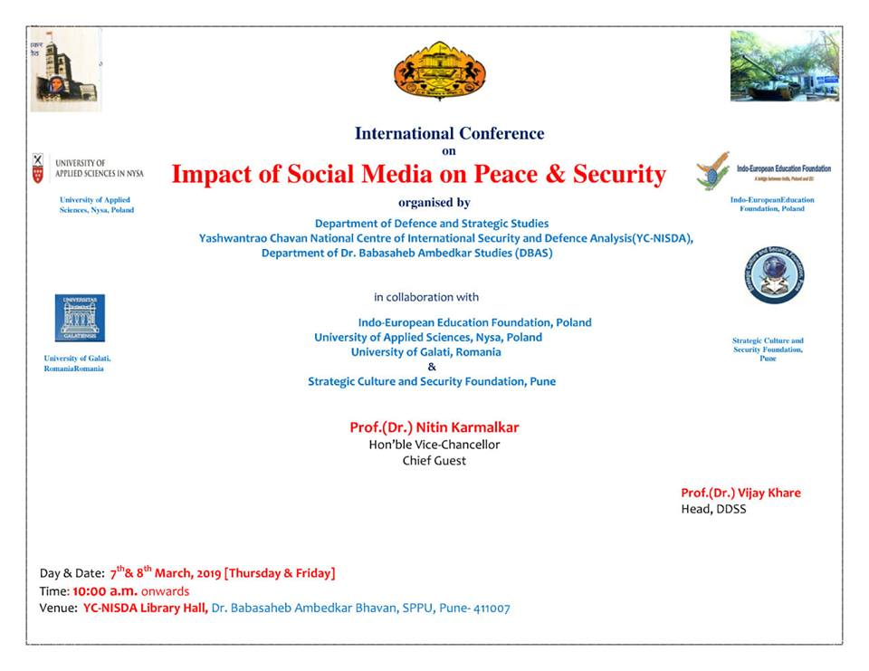 Impact of Social Media on Peace & Security, March 7-8, 2019 - Indo