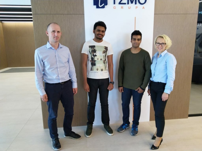 TZMO Toruń, Poland has selected IEEF's student for Internship 2018