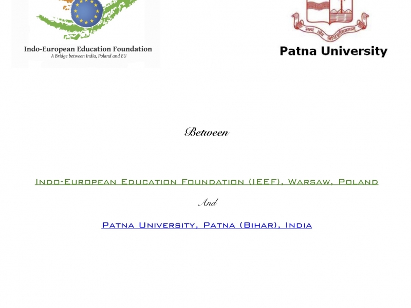 MoU with Patna University, Patna, Bihar on 5th March 2019
