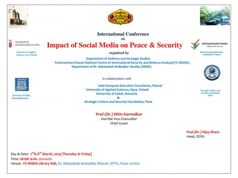 Impact of Social Media on Peace & Security, March 7-8, 2019