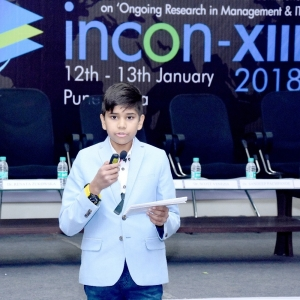 The Youngest scholar at 'incon XIII 2018'. Aditya Sandeep Pachpande,