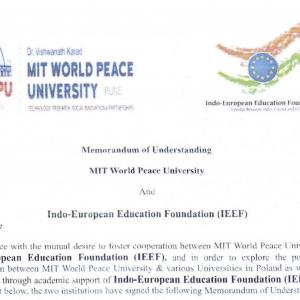 MOU with MIT World Peace University, Pune