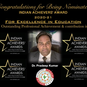 Being Nominated for INDIAN ACHIEVERS AWARD (2020-21)