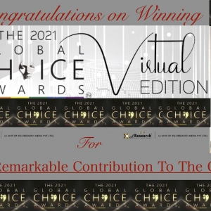 THE GLOBAL CHOICE AWARD 2021 FOR OUTSTANDING & REMARKABLE CONTRIBUTION TO THE GLOBAL EDUCATION