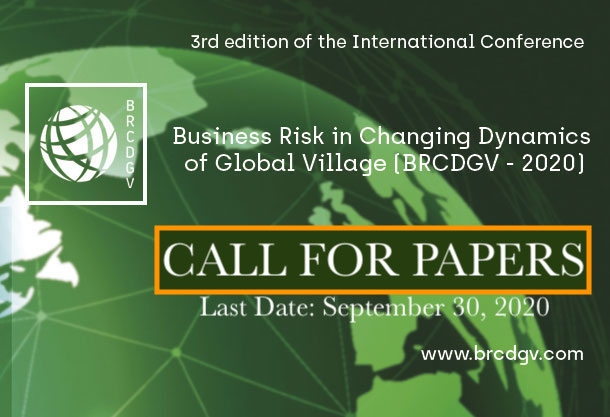 Call for papers BRCDGV-2020 publication